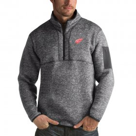 Wholesale Cheap Detroit Red Wings Antigua Fortune Quarter-Zip Pullover Jacket Black
