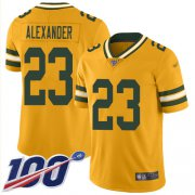 Wholesale Cheap Nike Packers #23 Jaire Alexander Gold Men's Stitched NFL Limited Inverted Legend 100th Season Jersey