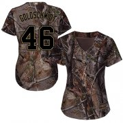 Wholesale Cheap Cardinals #46 Paul Goldschmidt Camo Realtree Collection Cool Base Women's Stitched MLB Jersey