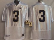 Wholesale Cheap Notre Dame Fighting Irish #3 Joe Montana 2014 White Jersey