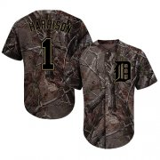 Wholesale Cheap Tigers #1 Josh Harrison Camo Realtree Collection Cool Base Stitched MLB Jersey