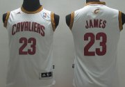 Cheap Cleveland Cavaliers #23 LeBron James White Kids Jersey