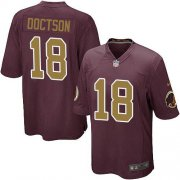 Wholesale Cheap Nike Redskins #18 Josh Doctson Burgundy Red Alternate Youth Stitched NFL Elite Jersey