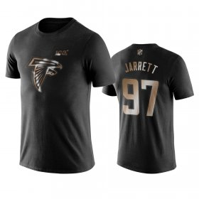 Wholesale Cheap Falcons #97 Grady Jarrett Black NFL Black Golden 100th Season T-Shirts