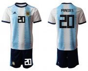 Wholesale Cheap Argentina #20 Paredes Home Soccer Country Jersey