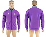 Wholesale Cheap Real Madrid Soccer Jackets Purple