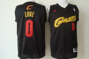 Wholesale Cheap Cleveland Cavaliers #0 Kevin Love 2014 Black With Red Fashion Jersey
