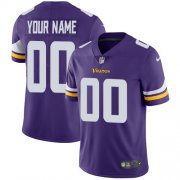 Wholesale Cheap Nike Minnesota Vikings Customized Purple Team Color Stitched Vapor Untouchable Limited Youth NFL Jersey