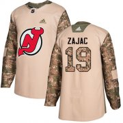 Wholesale Cheap Adidas Devils #19 Travis Zajac Camo Authentic 2017 Veterans Day Stitched Youth NHL Jersey