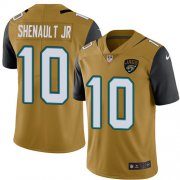 Wholesale Cheap Nike Jaguars #10 Laviska Shenault Jr. Gold Men's Stitched NFL Limited Rush Jersey