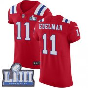 Wholesale Cheap Nike Patriots #11 Julian Edelman Red Alternate Super Bowl LIII Bound Men's Stitched NFL Vapor Untouchable Elite Jersey