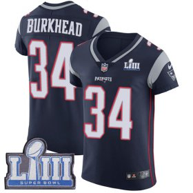 Wholesale Cheap Nike Patriots #34 Rex Burkhead Navy Blue Team Color Super Bowl LIII Bound Men\'s Stitched NFL Vapor Untouchable Elite Jersey