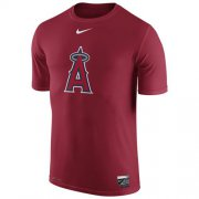 Wholesale Cheap Los Angeles Angels of Anaheim Nike Authentic Collection Legend Logo 1.5 Performance T-Shirt Red