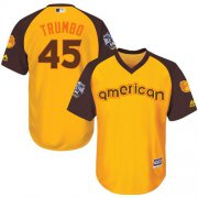 Wholesale Cheap Orioles #45 Mark Trumbo Gold 2016 All-Star American League Stitched Youth MLB Jersey