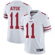 Wholesale Cheap Nike 49ers #11 Brandon Aiyuk White Youth Stitched NFL Vapor Untouchable Limited Jersey