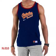 Wholesale Cheap Men's Nike Baltimore Orioles Home Practice Tank Top Blue