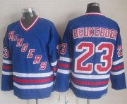 Wholesale Cheap Rangers #23 Jeff Beukeboom Blue CCM Heroes Of Hockey Alumni Stitched NHL Jersey