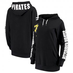 Wholesale Cheap Pittsburgh Pirates G-III 4Her by Carl Banks Women\'s 12th Inning Pullover Hoodie Black