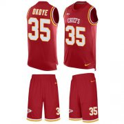 Wholesale Cheap Nike Chiefs #35 Christian Okoye Red Team Color Men's Stitched NFL Limited Tank Top Suit Jersey