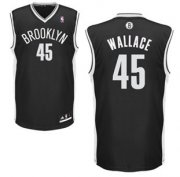 Wholesale Cheap Brooklyn Nets #45 Gerald Wallace Black Swingman Jersey