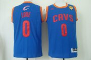 Wholesale Cheap Men's Cleveland Cavaliers #0 Kevin Love 2015 The Finals Light Blue Jersey
