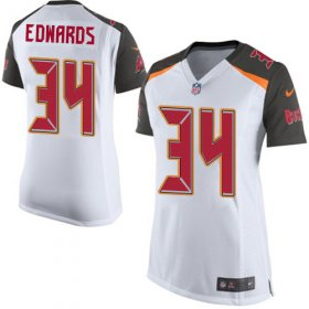 Wholesale Cheap Nike Buccaneers #34 Mike Edwards White Women\'s Stitched NFL New Elite Jersey