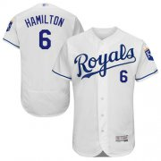 Wholesale Cheap Royals #6 Billy Hamilton White Flexbase Authentic Collection Stitched MLB Jersey