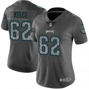 Wholesale Cheap Nike Eagles #62 Jason Kelce Gray Static Women's Stitched NFL Vapor Untouchable Limited Jersey