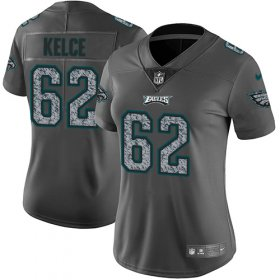 Wholesale Cheap Nike Eagles #62 Jason Kelce Gray Static Women\'s Stitched NFL Vapor Untouchable Limited Jersey