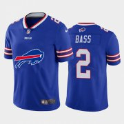 Wholesale Cheap Buffalo Bills #2 Tyler Bass Royal Blue Men's Nike Big Team Logo Vapor Limited NFL Jersey