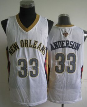 Wholesale Cheap New Orleans Pelicans #33 Ryan Anderson White Swingman Jersey