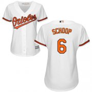 Wholesale Cheap Orioles #6 Jonathan Schoop White Home Women's Stitched MLB Jersey