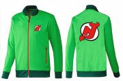 Wholesale Cheap NHL New Jersey Devils Zip Jackets Green