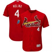 Wholesale Cheap Cardinals #4 Yadier Molina Red 2018 Spring Training Authentic Flex Base Stitched MLB Jersey
