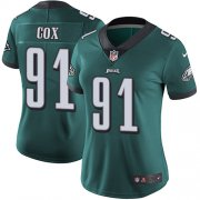 Wholesale Cheap Nike Eagles #91 Fletcher Cox Midnight Green Team Color Women's Stitched NFL Vapor Untouchable Limited Jersey