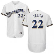 Wholesale Cheap Brewers #22 Christian Yelich White Flexbase Authentic Collection Stitched MLB Jersey
