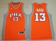Wholesale Cheap Men's Phoenix Suns #13 Steve Nash Orange Stitched NBA Adidas Revolution 30 Swingman Jersey