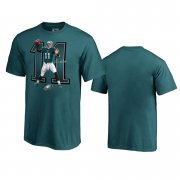 Wholesale Cheap Philadelphia Eagles #11 Carson Wentz Midnight Green Men's Player Graphic Powerhouse T-Shirt