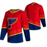 Wholesale Cheap St. Louis Blues Blank Red Men's Adidas 2020-21 Reverse Retro Alternate NHL Jersey