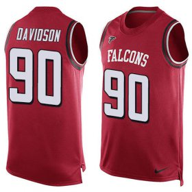 Wholesale Cheap Nike Falcons #90 Marlon Davidson Red Team Color Men\'s Stitched NFL Limited Tank Top Jersey