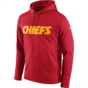 Wholesale Cheap Men's Kansas City Chiefs Nike Red Circuit Wordmark Essential Performance Pullover Hoodie