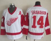 Wholesale Cheap Red Wings #14 Brendan Shanahan White CCM Throwback Stitched NHL Jersey