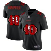 Wholesale Cheap San Francisco 49ers #10 Jimmy Garoppolo Men's Nike Team Logo Dual Overlap Limited NFL Jersey Black