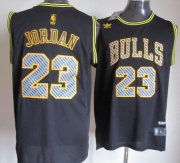 Wholesale Cheap Chicago Bulls #23 Michael Jordan Black Electricity Fashion Jersey