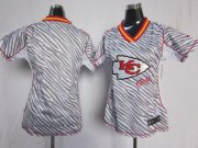 Wholesale Cheap Nike Chiefs Blank Zebra Women's Stitched NFL Elite Jersey