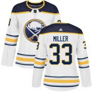 Wholesale Cheap Adidas Sabres #33 Colin Miller White Road Authentic Women's Stitched NHL Jersey
