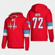 Wholesale Cheap Washington Capitals #72 Travis Boyd Red adidas Lace-Up Pullover Hoodie