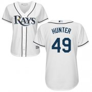 Wholesale Cheap Rays #49 Tommy Hunter White Home Women's Stitched MLB Jersey