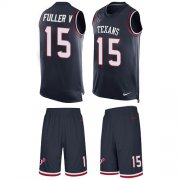 Wholesale Cheap Nike Texans #15 Will Fuller V Navy Blue Team Color Men's Stitched NFL Limited Tank Top Suit Jersey