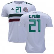 Wholesale Cheap Mexico #21 C.Pena Away Soccer Country Jersey
